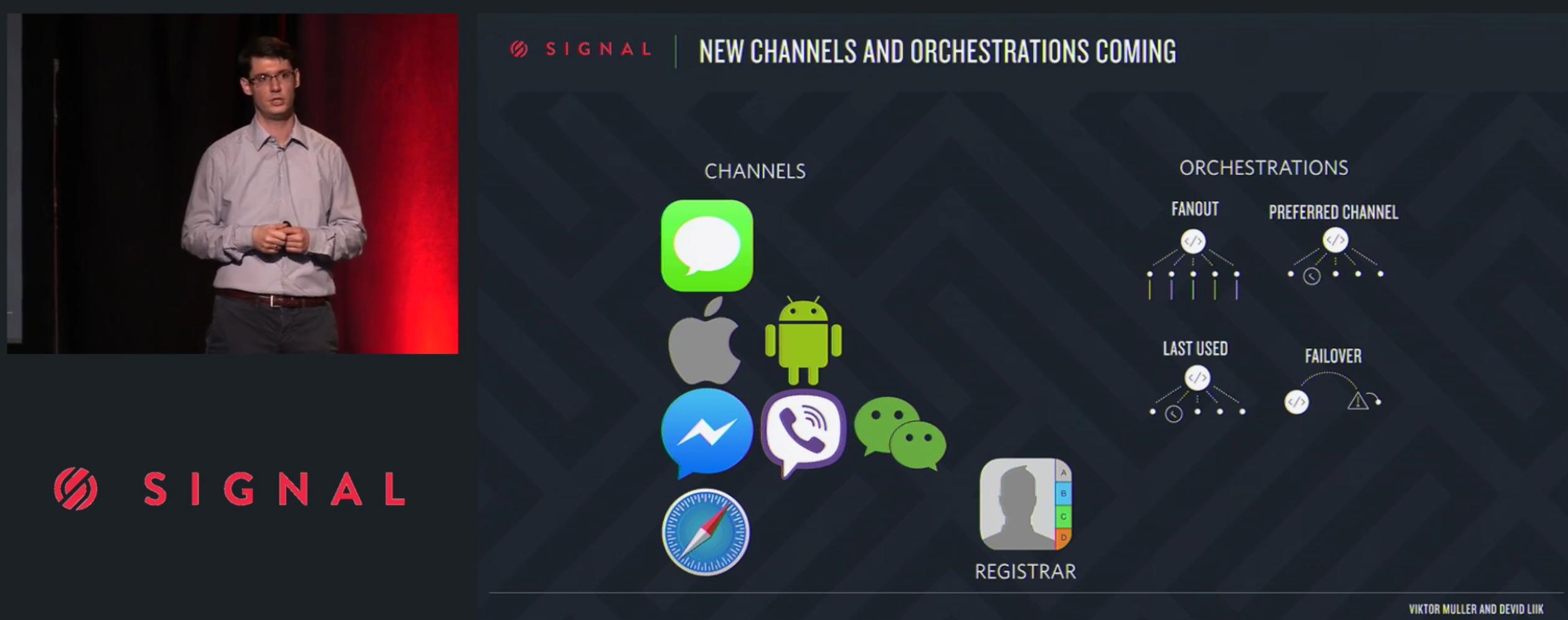 A Twilio Notify termék bemutató a Signal 2016 konferencián
